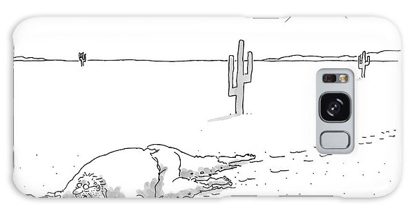 A Scruffy-looking Man Crawls Through The Desert Galaxy S8 Case