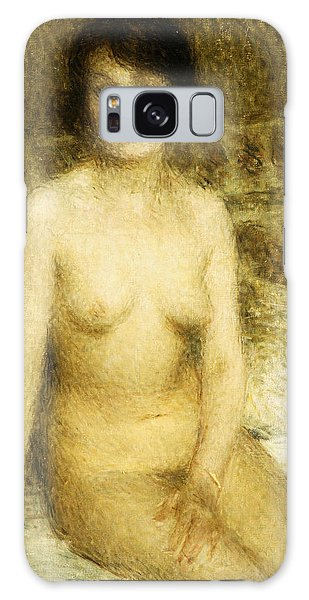 Sitting Nude Galaxy Case - A Seated Nude by Ernest-Joseph Laurent