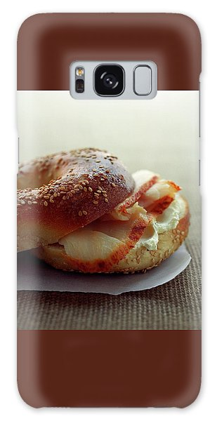 A Sesame Bagel Galaxy Case
