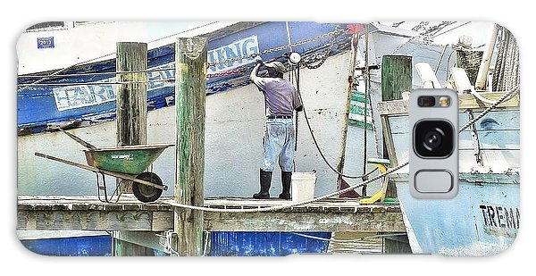 A Shrimper's Work Is Never Done Galaxy Case by Patricia Greer