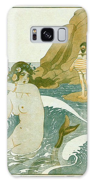 Folklore Galaxy Case - A Siren Lures A Man With Her  Song - by Mary Evans Picture Library