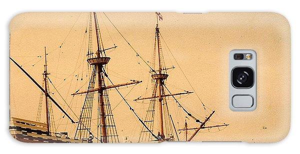 A Small Old Clipper Ship Galaxy Case