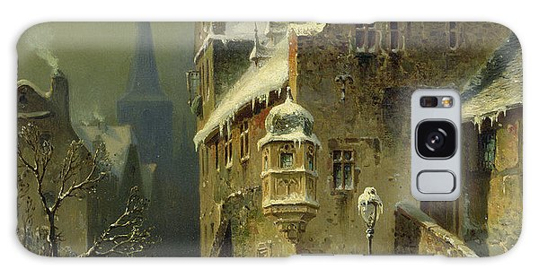 Cloud Galaxy Case - A Small Town In The Rhine by August Schlieker