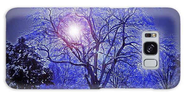 A Snow Glow Evening Galaxy Case