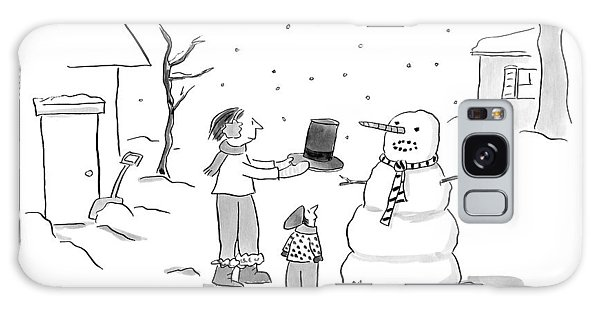 A Snowman Confronts A Mother Galaxy Case