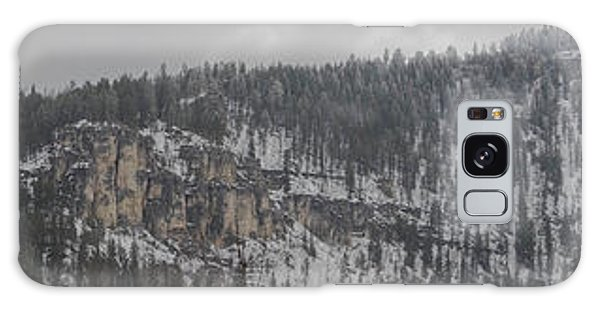 A Snowy Day In Spearfish Canyon Of South Dakota Galaxy Case