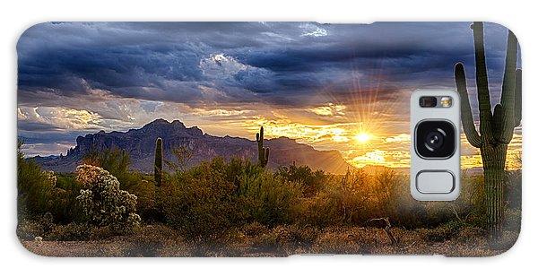 Cacti Galaxy Case - A Sonoran Desert Sunrise by Saija  Lehtonen