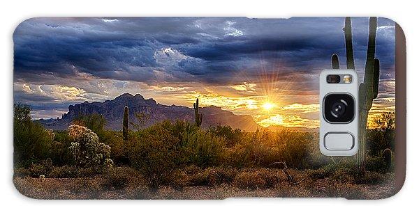 A Sonoran Desert Sunrise Galaxy Case