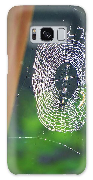 A Spider Was Busy Galaxy Case by Jeanette Oberholtzer