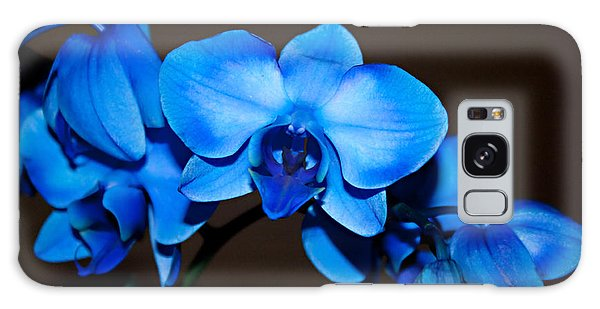 A Stem Of Beautiful Blue Orchids Galaxy Case by Sherry Hallemeier