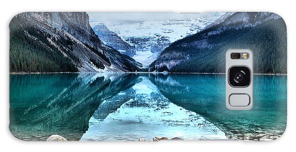 A Still Day At Lake Louise Galaxy Case