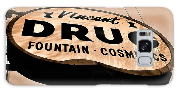 A Store For Everyone - Vintage Pharmacy Sign Galaxy Case by Steven Milner