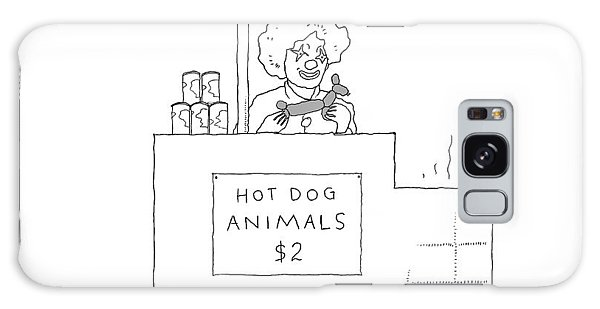 Cart Galaxy Case - A Street Vendor Sells Hot Dog Animals by Liana Finck