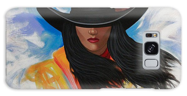 A Stroke Of Cowgirl Galaxy Case by Lance Headlee