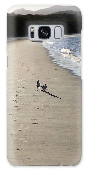 Galaxy Case featuring the photograph A Stroll Along The Beach by Debbie Cundy