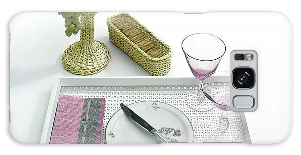 A Summer Table Setting On A Tray Galaxy Case