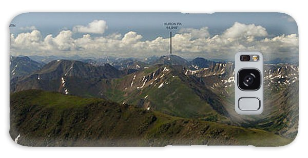 A Summit View Panorama With Peak Labels Galaxy Case