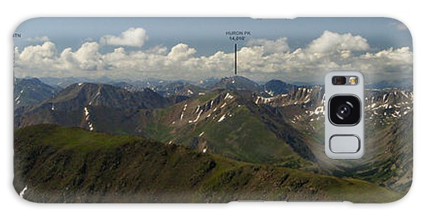 A Summit View Panorama Text Galaxy Case by Jeremy Rhoades