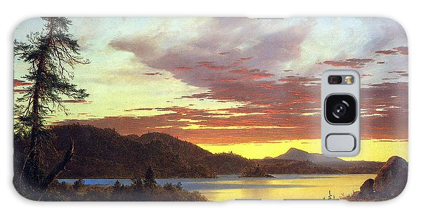 A Sunset By Frederick Edwin Church Galaxy Case