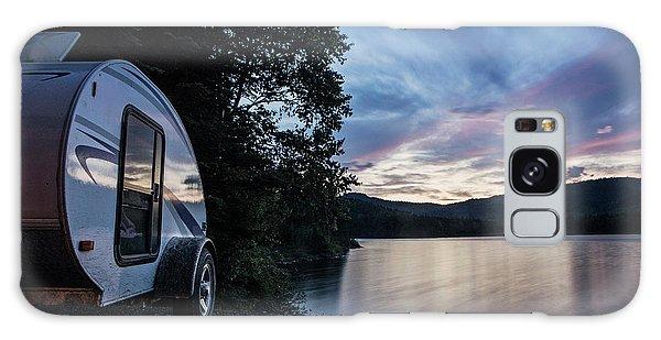 Aroostook County Galaxy Case - A Teardrop Camper Is Parked Next by Chris Bennett