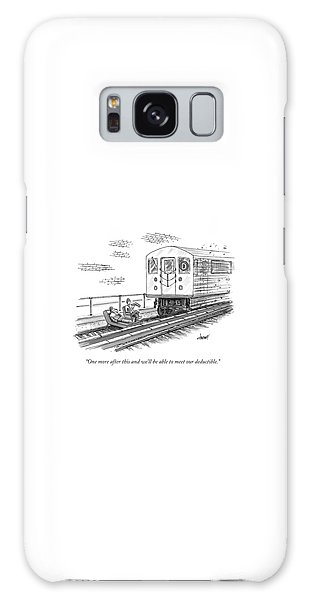 A Therapist Speaks To A Patient On Train Tracks Galaxy Case