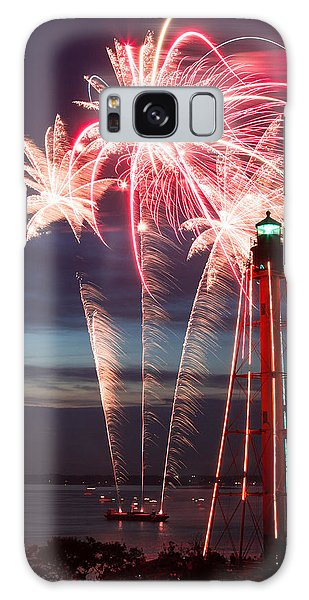 A Three Burst Salvo Of Fire For The Fourth Of July Galaxy Case by Jeff Folger