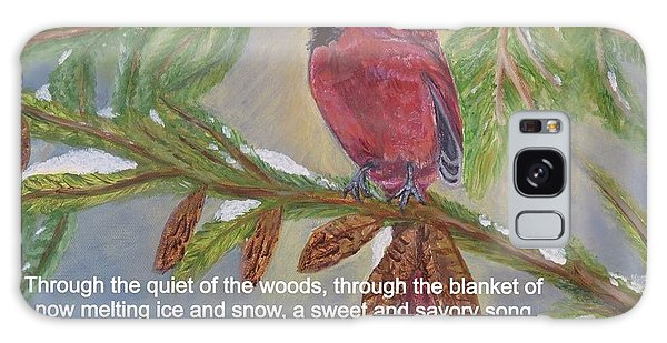A Tired And Hungry World Hears The Sweet And Savory Song Of A Cardinal Galaxy Case by Kimberlee Baxter