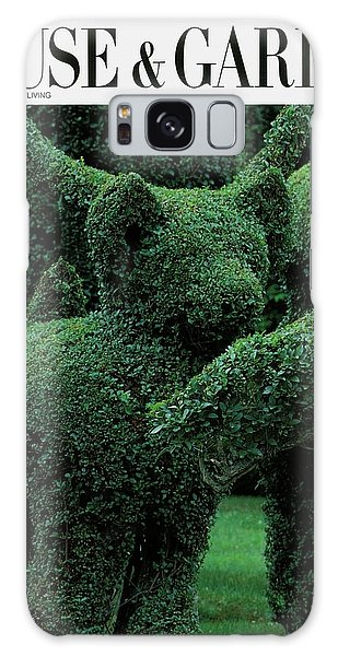 A Topiary Bear In Alice Braytons Green Animals Galaxy Case