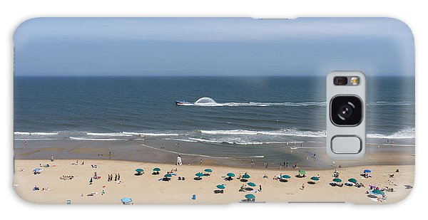 A Touring Speedboat Passes By Shore In Ocean City Maryland Galaxy Case