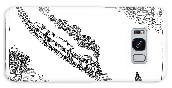 Trains Galaxy Case - A Train Heads Toward A Tied Up Victim Traveling by John O'Brien