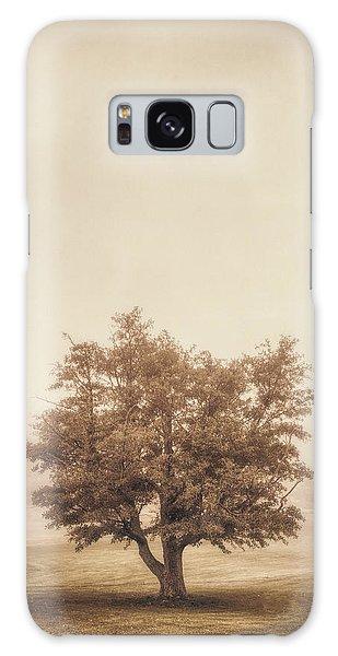 Green Leaf Galaxy Case - A Tree In The Fog by Scott Norris