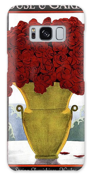 A Vase With Red Roses Galaxy Case