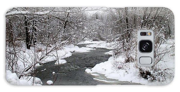 A Vermont Stream In Winter Galaxy Case