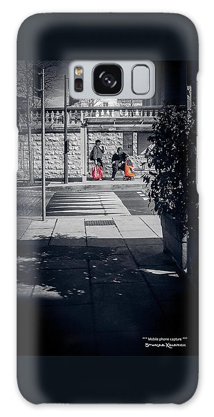 Galaxy Case featuring the photograph A Very Long Waiting Day by Stwayne Keubrick