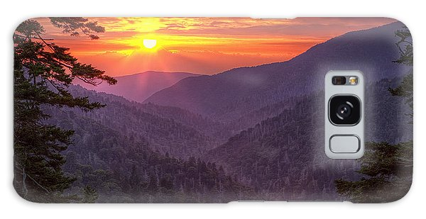A View At Sunset Galaxy Case