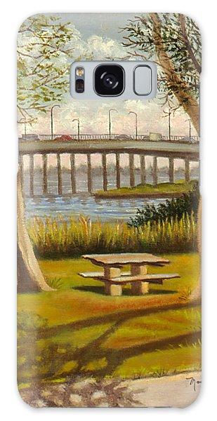 A View Of Crossbay Bridge Galaxy Case