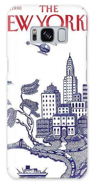 A View Of New York City Galaxy Case