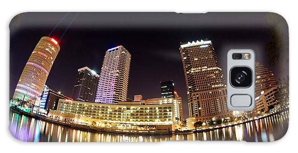 A View Of Tampa And The Hillsborough River Galaxy Case by Daniel Woodrum