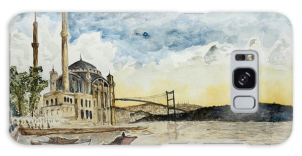 A View Of The Bosphorous Bridge From The Docks Of The Ortakoy Mosque Galaxy Case