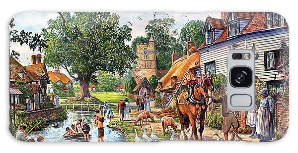 English Countryside Galaxy Case - A Village In Summer by MGL Meiklejohn Graphics Licensing