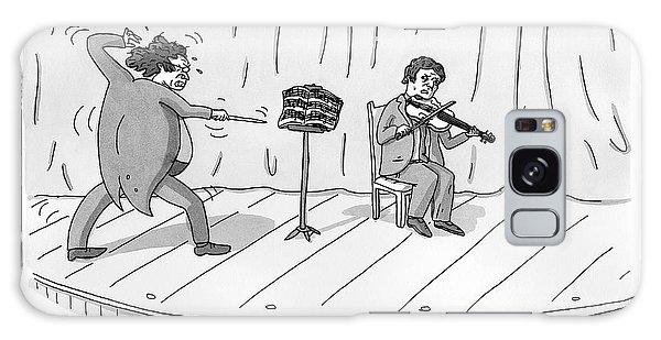 A Violinist Speaks To A Wildly Gesturing Galaxy S8 Case