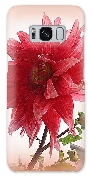 A Vision In  Coral - Dahlia Galaxy Case by Dora Sofia Caputo Photographic Art and Design