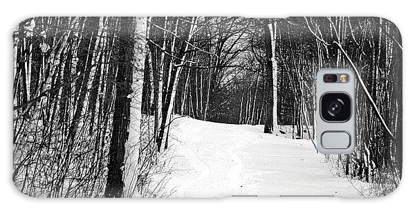 A Walk In Snow Galaxy Case