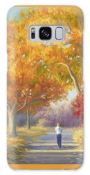 Scenery Galaxy Case - A Walk In The Fall by Lucie Bilodeau
