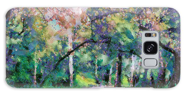 Galaxy Case featuring the mixed media A Walk Inside The Rainbow Forest by Priya Ghose