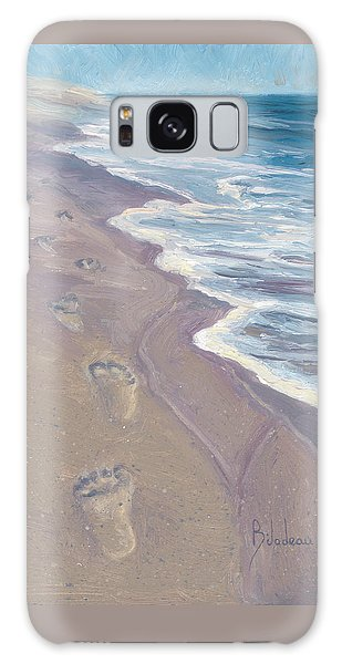 Scenery Galaxy Case - A Walk On The Beach by Lucie Bilodeau