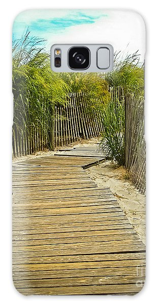 A Walk To The Beach Galaxy Case by Colleen Kammerer