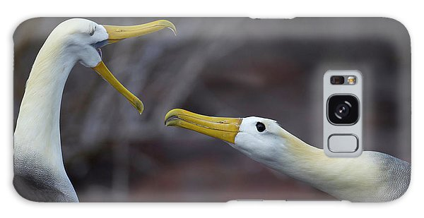 Albatross Galaxy Case - A Wave Albatross Couple In A Courtship by Peter Essick