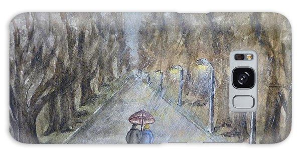 A Wet Evening Stroll Galaxy Case