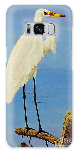 A White Egret Galaxy Case